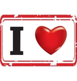 red stamp with the image of heart vector image