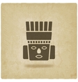 Toltec Warrior head Mexico ancient culture symbol vector image