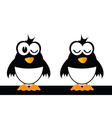 two funny bird vector image