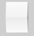 White blank paper card vector image