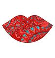 zen lip vector image
