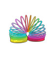 retro 90s style rainbow colored plastic spring vector image
