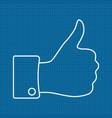 thumbs up icon on bluepri vector image