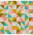 Trendy retro hipster geometric seamless pattern vector image vector image