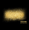 sparkling glitter texture on black background vector image vector image