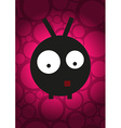 Monster on background with circles vector image