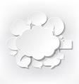 Speech Bubbles Symbols vector image vector image