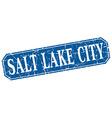 Salt Lake City blue square grunge retro style sign vector image