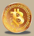 bitcoin golden vector image