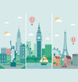 cities skylines design with landmarks london vector image