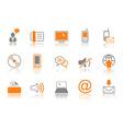 communication icon set orang vector image