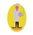 Cook avatar and person Flat colored vector image
