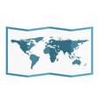 folded world map flat style vector image