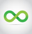 Green infinity symbol logo icon vector image
