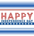 Happy American independence day vector image