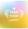 logo for farming vector image