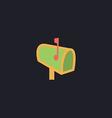 Mailbox computer symbol vector image