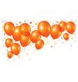 orange balloons on white background vector image