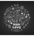 run icons set vector image