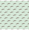 Seamless mustache pattern mint green background vector image