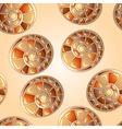 seamless snail shells vector image