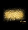 sparkling glitter texture on black background vector image