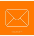 Stock Linear icon mail vector image