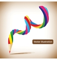 art template with a pencil vector image vector image