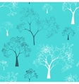 Seamless Pattern of Tree Silhouettes vector image vector image