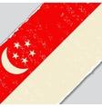 Singapore grunge flag vector image