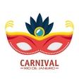 carnival rio de janeiro mask blue feathers vector image
