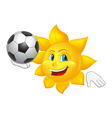 sun is playing football vector image vector image