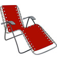 Chaise lounge vector image vector image