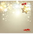 Elegant Christmas background with golden stars and vector image vector image