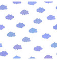 awesome seamless pattern with cute cartoon vector image