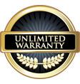 unlimited warranty icon vector image vector image