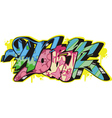 Graffito - work vector image