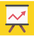 Business Growing Chart Presentation Icon vector image