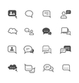 Chat icon set vector image