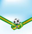brazil flag set with soccer ball vector image vector image