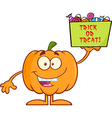 Cartoon pumpkin vector image vector image