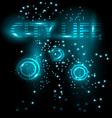 Abstract bright glowing background City Live vector image