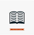 book icon simple vector image