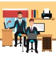 businessman in workspace isolated icon design vector image