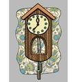 doodle clock vector image