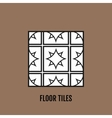 Flat black and white floor tiles icon isolated on vector image