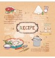 food ingredients recipe vector image