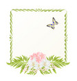 frame cherry blossom and jasmine with butterflies vector image