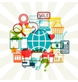 Internet shopping concept background vector image