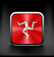Isle of Man icon flag national travel icon country vector image